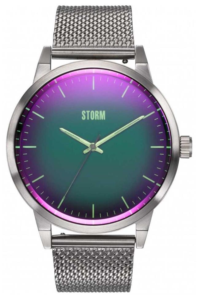 STORM Styro Lazer Green | Steel Mesh Bracelet 47487/GN