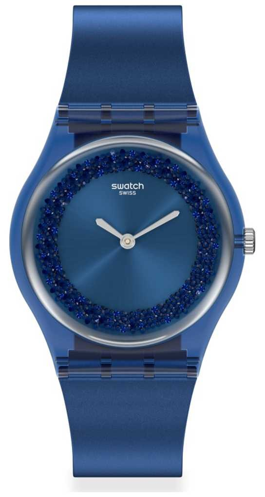Swatch SIDERAL BLUE | Original Gent | Blue Silicone Strap | Blue Dial SWATCH-GN269