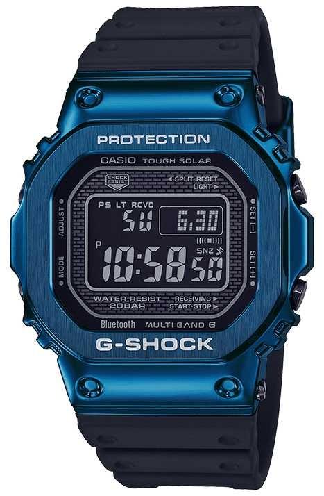 Casio G-Shock Blue Tough Solar Blue IP Plated GMW-B5000G-2ER