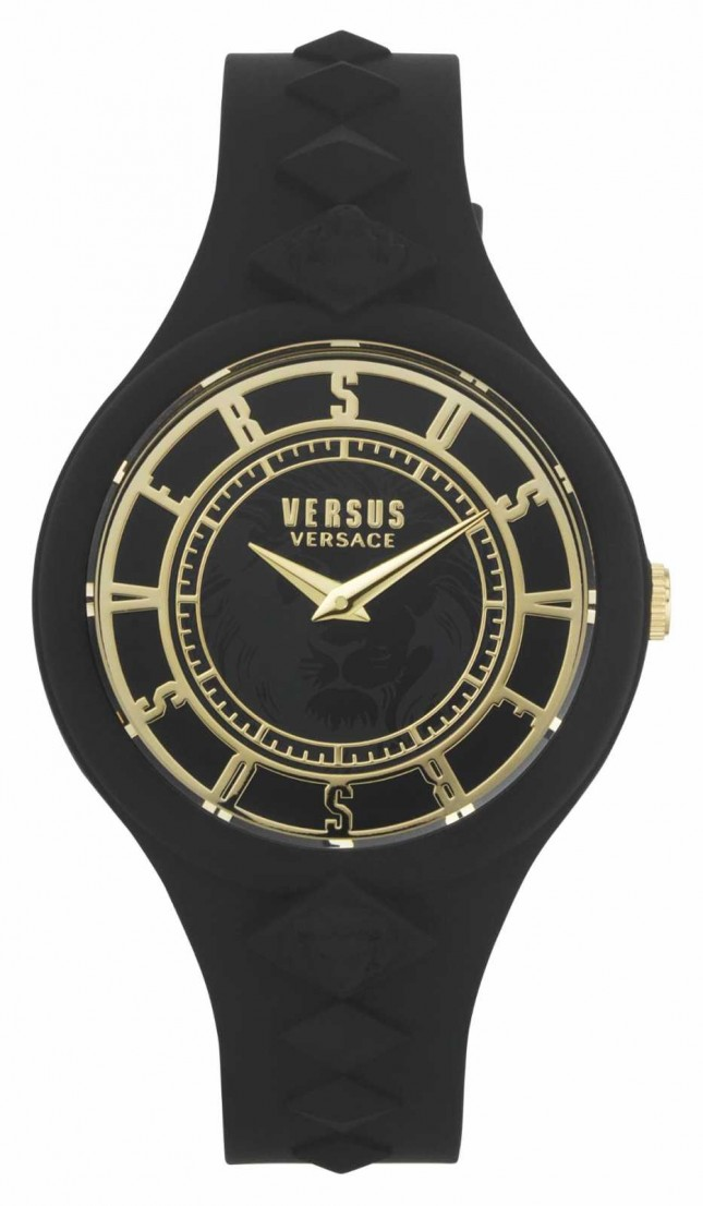 Versus Versace Women's Fire Island | Black Silicone Strap | Black Dial VSP1R1020