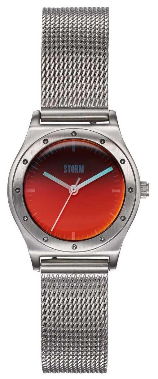 STORM Sian Lazer Red   Steel Mesh Bracelet   Red Dial 47485/R
