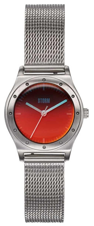 STORM Sian Lazer Red | Steel Mesh Bracelet | Red Dial 47485/R