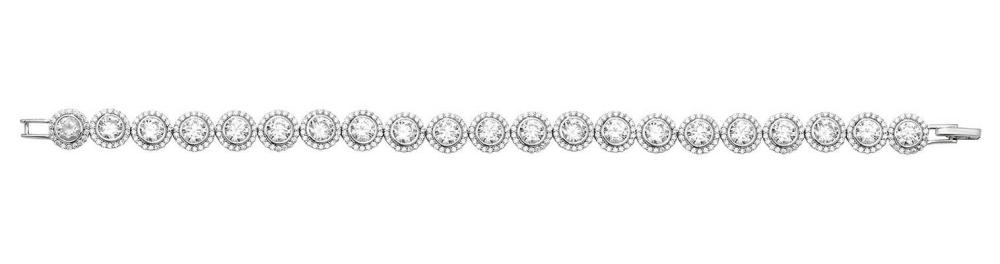 James Moore TH Silver Ladies' Halo Style CZ Bracelet G2672