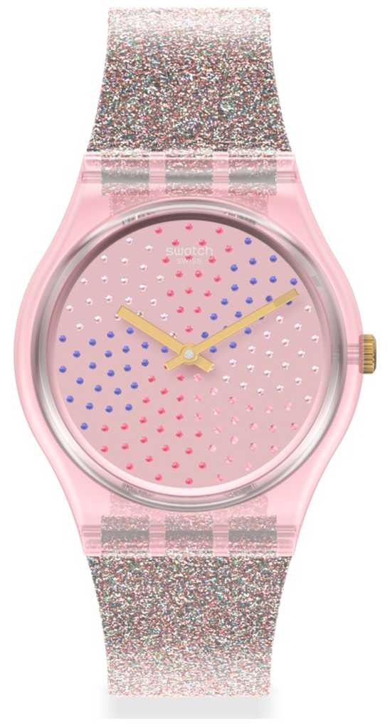 Swatch MULTILUMINO | Original Gents | Glitter Silicone Strap | Sparkle Dial GP168
