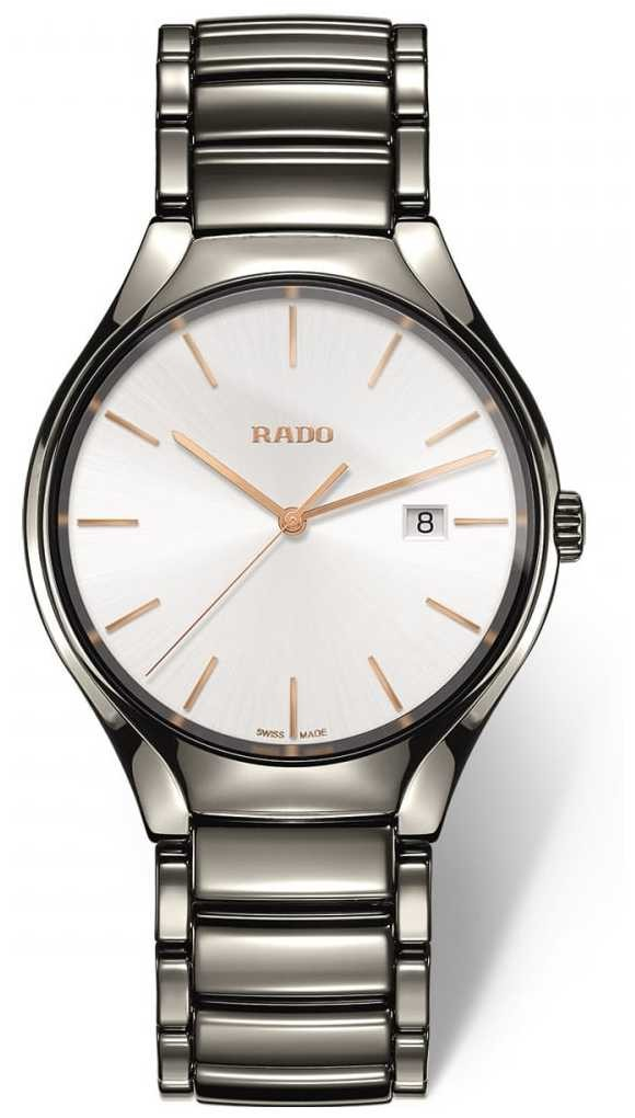 RADO Men's Ceramic True Plasma Grey Quartz R27239102