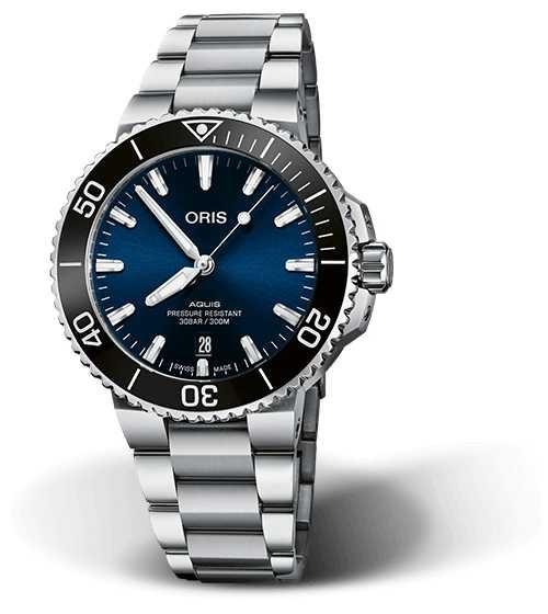 ORIS Aquis Date 41.5mm Blue Dial Stainless Steel Bracelet 01 733 7766 4135-07 8 22 05PEB