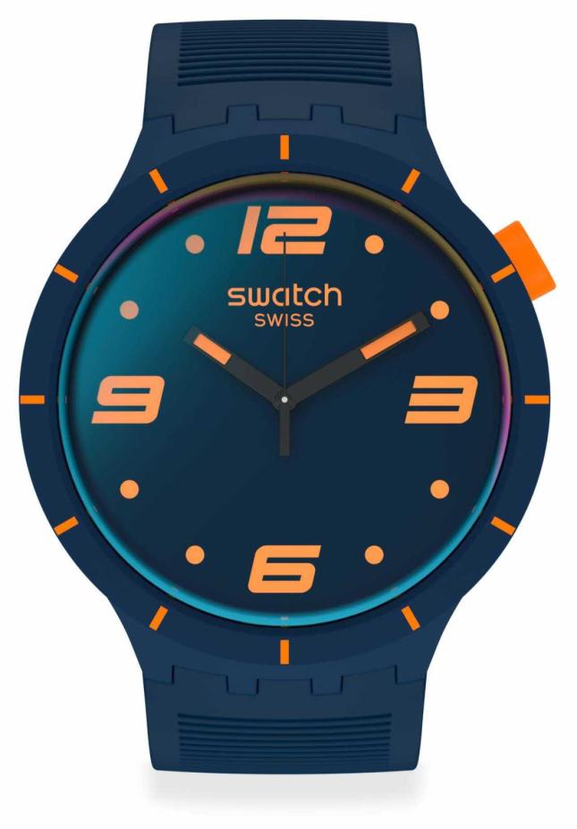 Swatch FUTURISTIC BLUE | Big Bold | Blue Silicone Strap | Blue Dial SO27N110