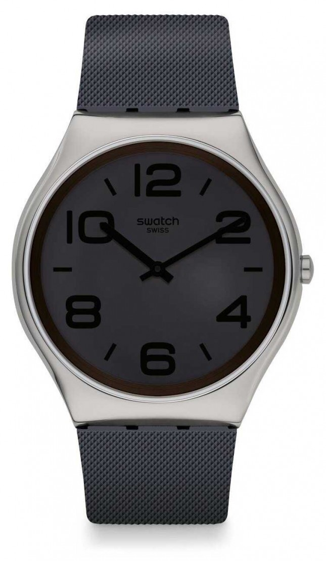 Swatch DAY TRICK   Grey Silicone Strap   Grey Dial SS07S110