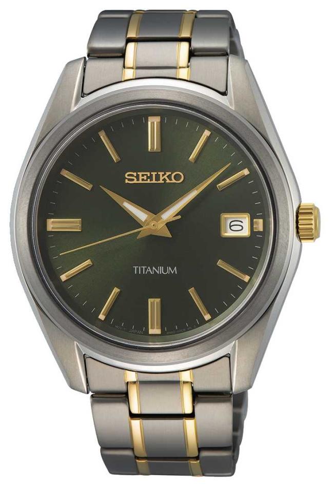 Seiko Men's Quartz Titanium Two Tone SUR377P1