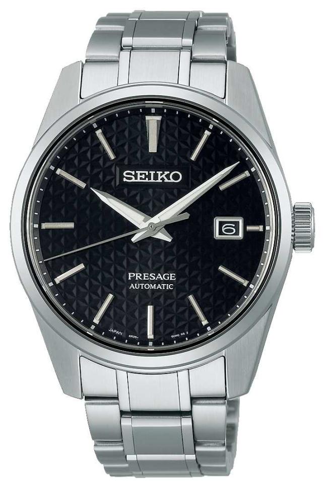 Seiko Men's Presage Sharp Edge Series Black Dial SPB203J1
