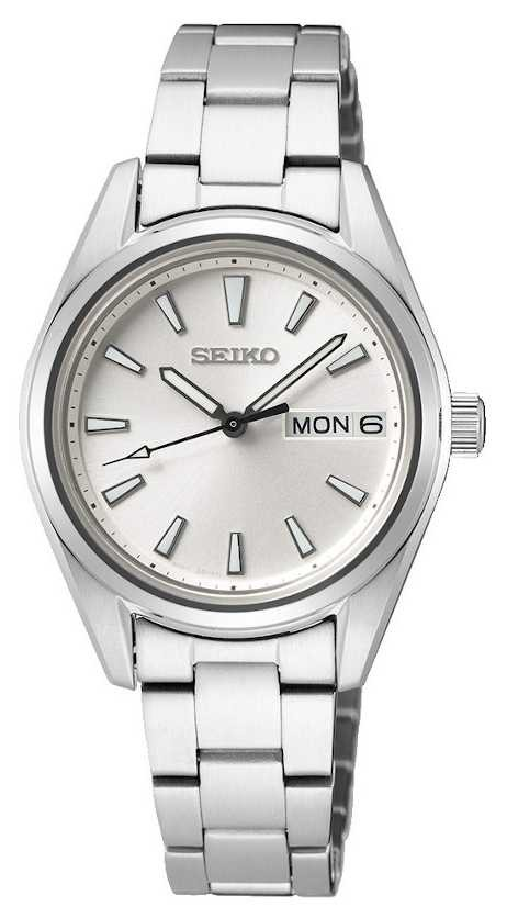 Seiko   Women's   Quartz   Stainless Steel Bracelet   Silver Dial SUR349P1