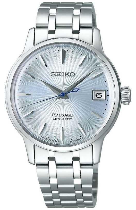 Seiko   Presage   Women's   Stainless Steel Bracelet   Blue Dial   SRP841J1