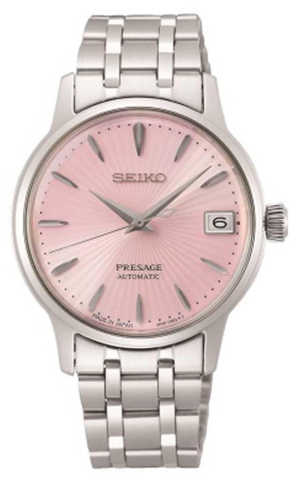 Seiko Presage | Women's | Stainless Steel Bracelet | Pink Dial SRP839J1