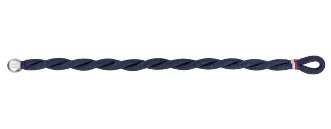 Tommy Hilfiger | Mens | Blue Nylon Braided | Bracelet | 2790050
