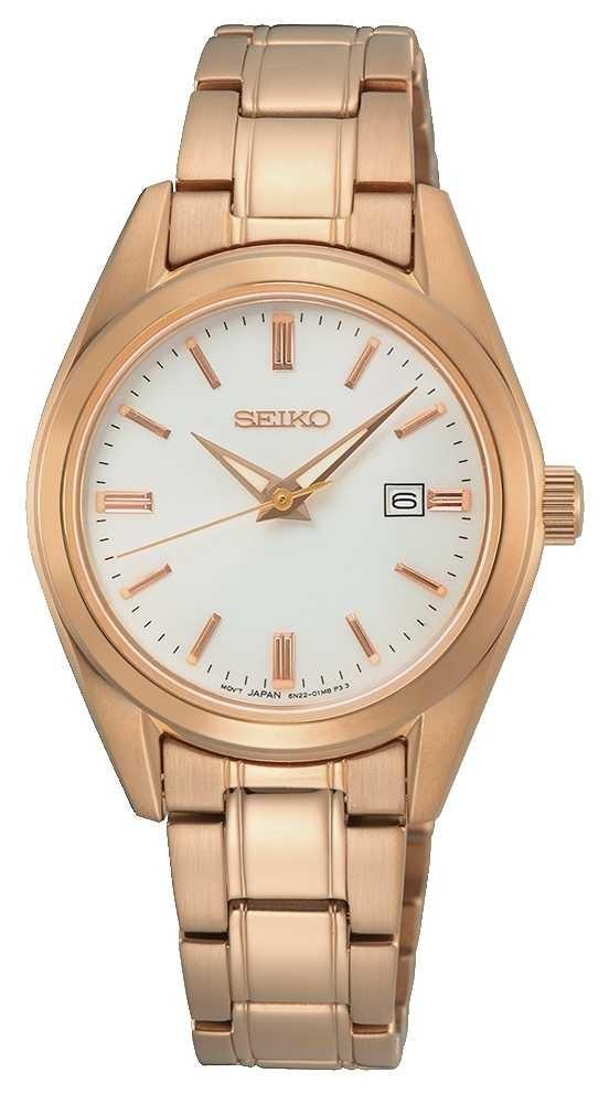 Seiko Conceptual Ladies Quartz | Rose Gold Steel Bracelet SUR630P1