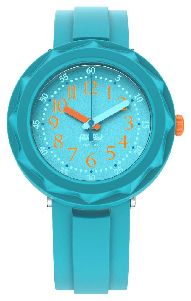 Flik Flak AQUALICIOUS | Aqua Blue Silicone Strap | Aqua Dial FCSP100