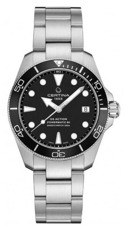 Certina DS ACTION Diver | 38MM | Powermatic 80 | Stainless Steel C0328071105100