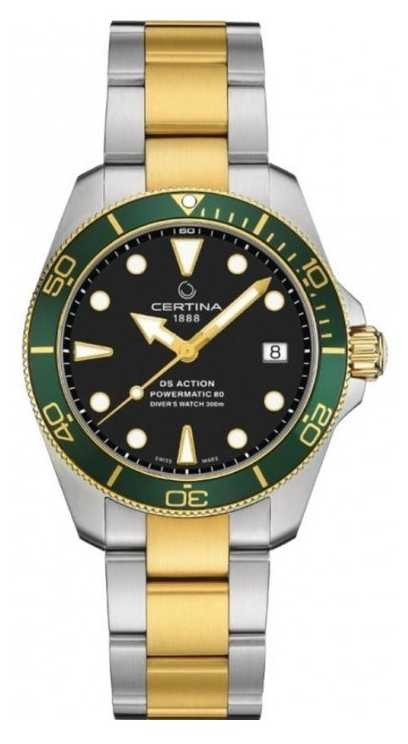 Certina DS ACTION Diver | 38MM | Powermatic 80 | Two Tone C0328072205101
