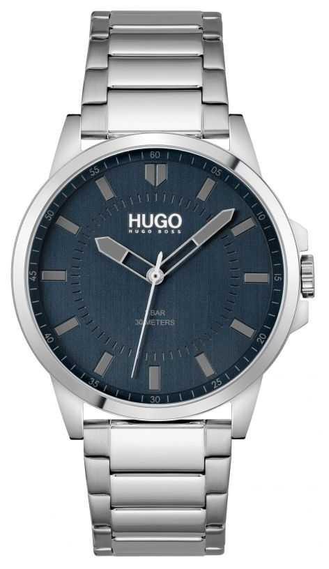 HUGO #FIRST | Men's Stainless Steel Bracelet | Blue Dial 1530186