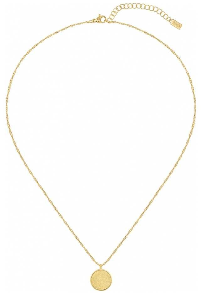 BOSS Jewellery Women's Gold Plated Medallion Necklace 1580157