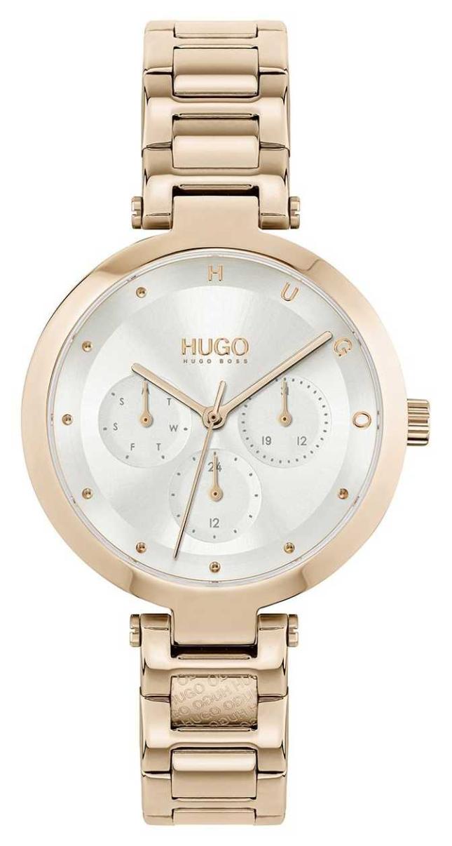 HUGO #HOPE Multi | Women's Rose Gold Tone Steel Bracelet | Silver Dial 1540087