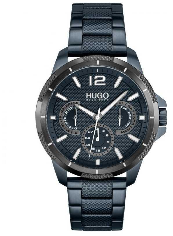 HUGO #Sport | Men's Blue IP Steel Bracelet | Blue Dial 1530194