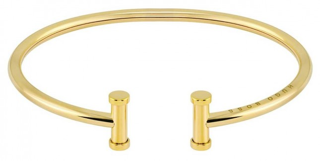 BOSS Jewellery Women's Gold Plated Stainless Steel Bangle 1580165M