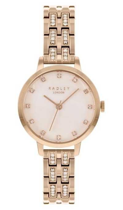 Radley   Women's   Rose Gold Plated Bracelet   White Dial   RY4560