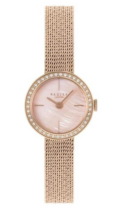 Radley | Women's | Rose Gold Plated Mesh Bracelet | Pink Mother Of Pearl Dial | RY4570