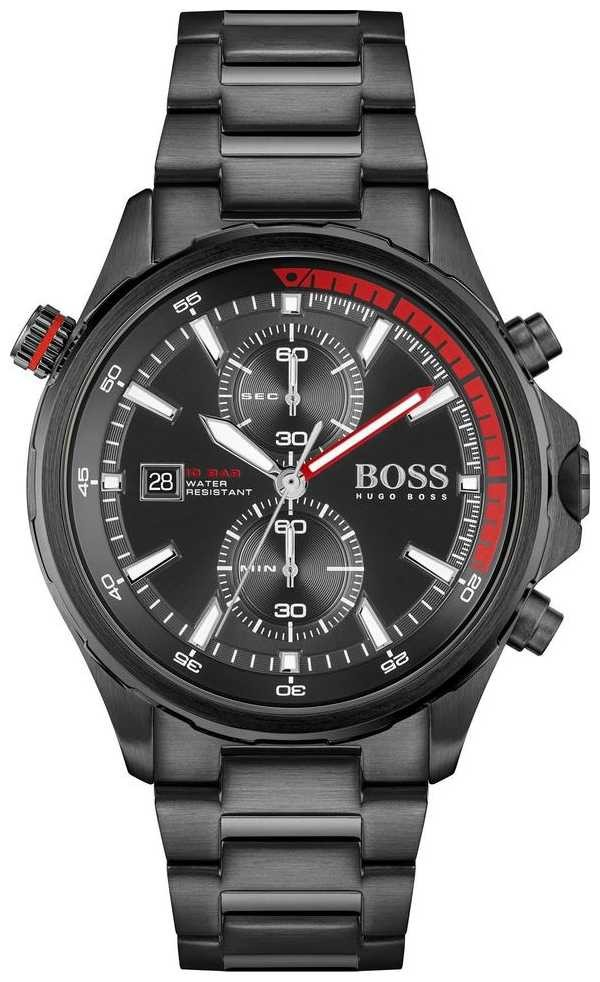 BOSS | Globetrotter | Chronograph | Black Dial | Black PVD Steel Bracelet | 1513825