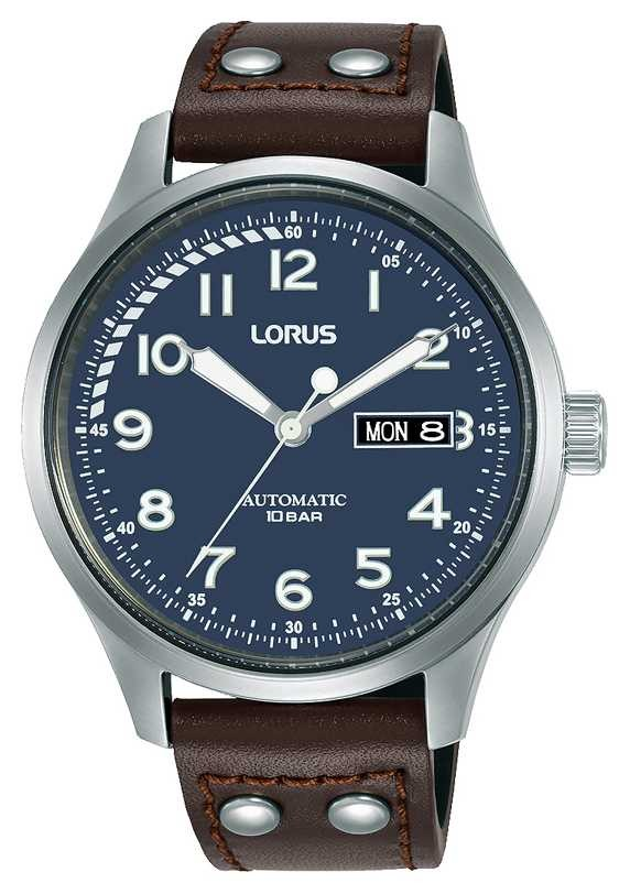Lorus Mens | Automatic | Blue Dial | Brown Leather Strap RL463AX9