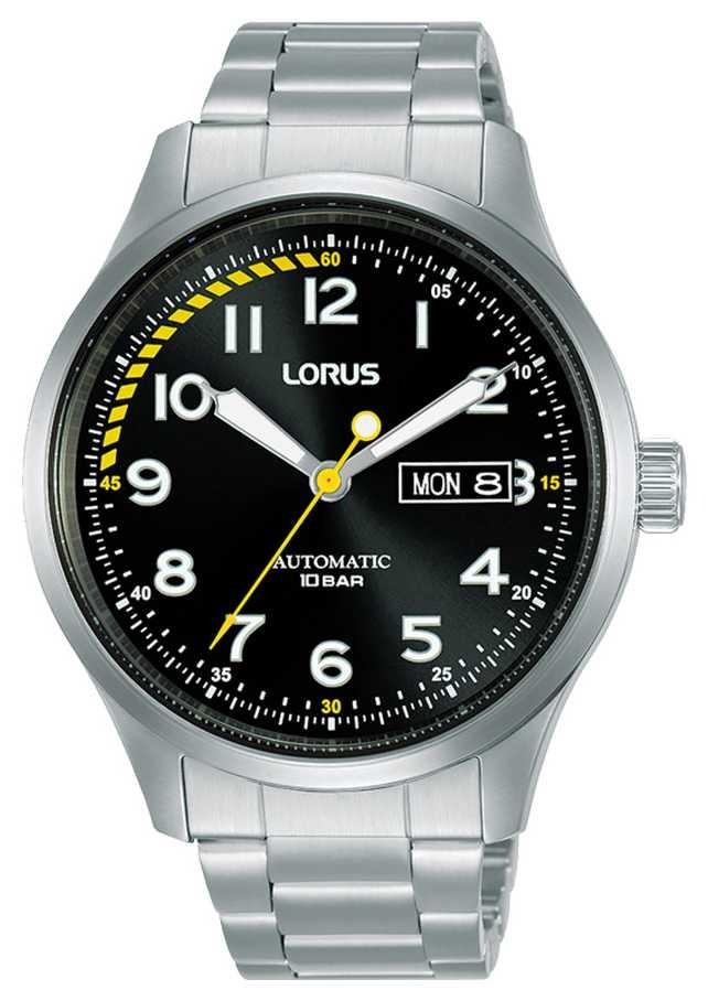 Lorus Mens | Automatic | Black Dial | Stainless Steel Bracelet RL457AX9