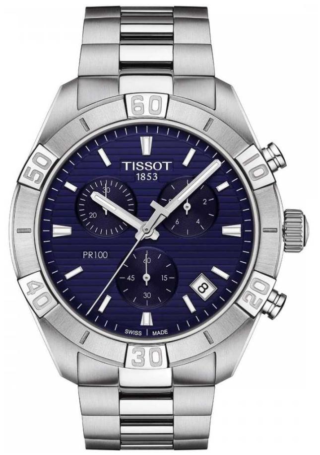 Tissot PR100 Sport | Chronograph | Blue Dial | Stainless Steel Bracelet T1016171104100
