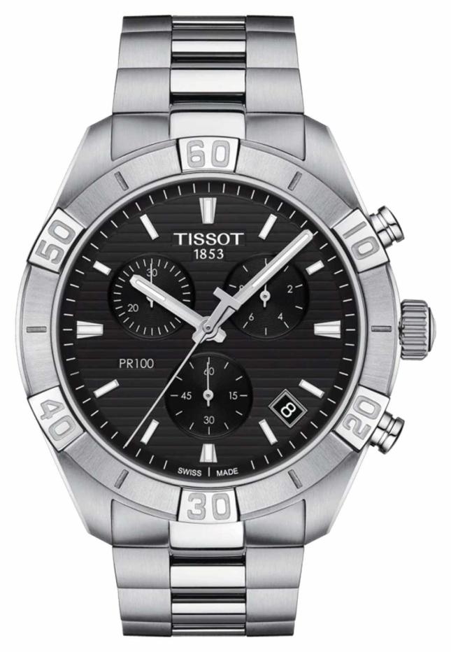 Tissot PR100 Sport | Chronograph | Black Dial | Stainless Steel Bracelet T1016171105100