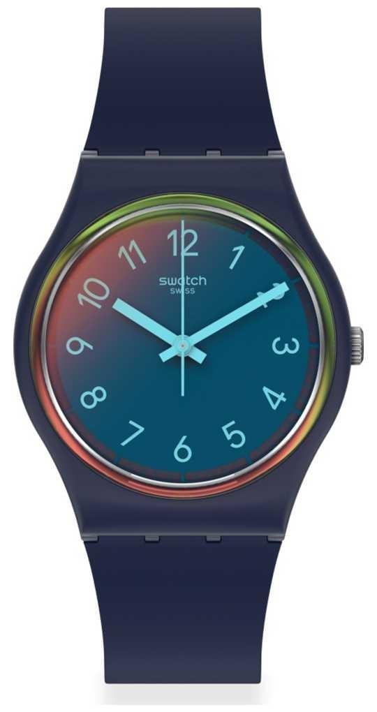 Swatch LA NIGHT BLUE | Blue Silicone Strap | Multi-coloured Dial GN274