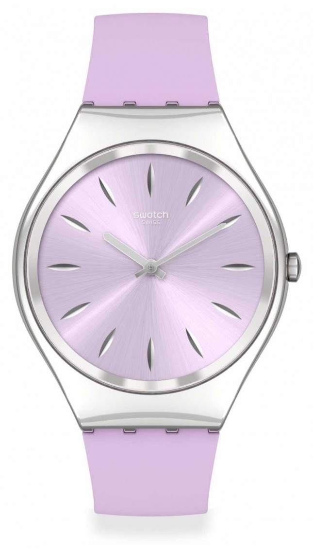 Swatch SKINSOFTBLINK | Pink Silicone Strap | Pink Dial SYXS131