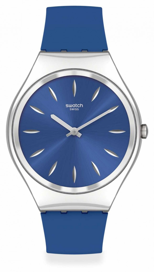 Swatch SKINDEEPBLINK | Blue Silicone Strap | Blue Dial SYXS132