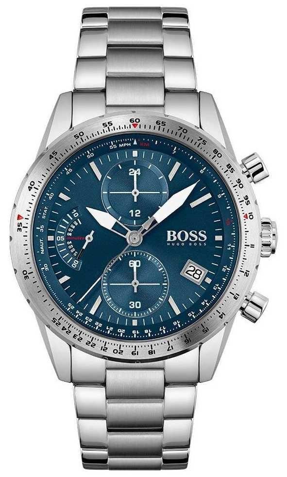 BOSS | Pilot Edition | Men's | Stainless Steel Bracelet | Blue Dial | 1513850