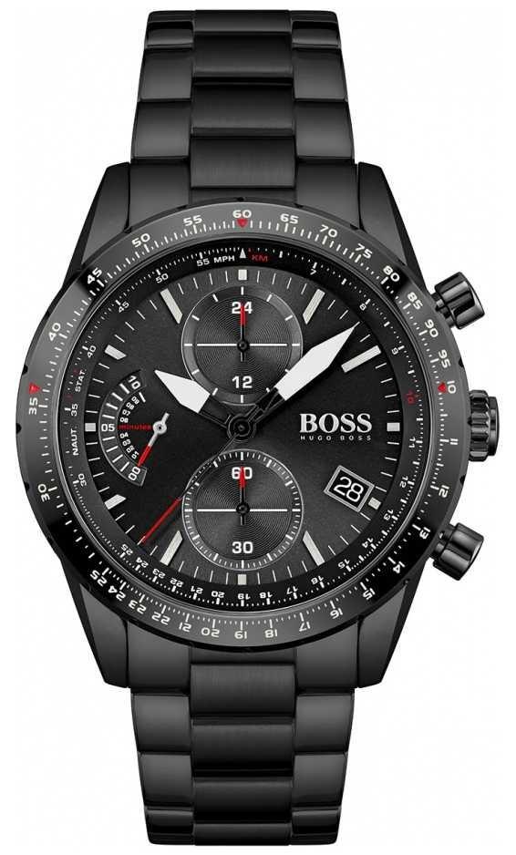 BOSS | Men's | Pilot Edition | Black Bracelet | Black Chronograph Dial | 1513854