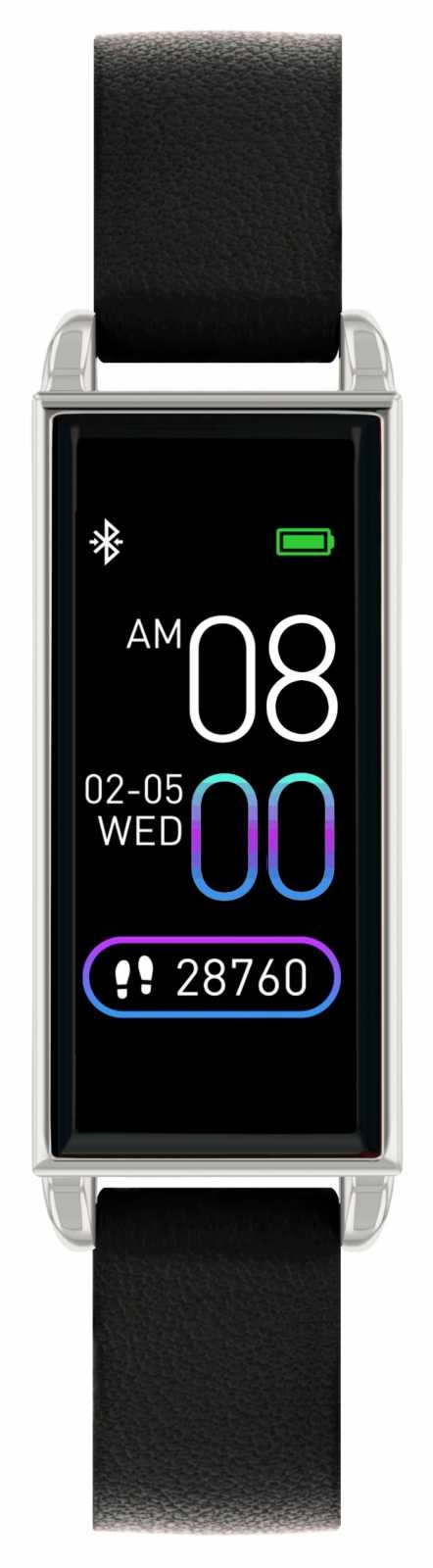 Reflex Active Series 2 Smart Watch | Colour Touch Screen | Black Leather Strap RA02-2007