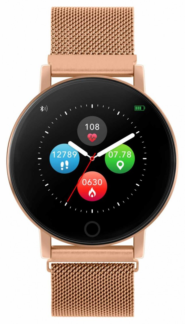 Reflex Active Series 5 Smart Watch | HR Monitor | Colour Touch Screen |rose Gold Steel Mesh RA05-4016