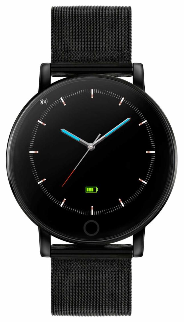 Reflex Active Series 5 Smart Watch | HR Monitor | Colour Touch Screen |black IP Steel Mesh RA05-4024
