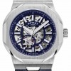 Rotary Mens | Regent | Automatic | Blue Skeleton Dial | Blue Leather Strap GS05415/05