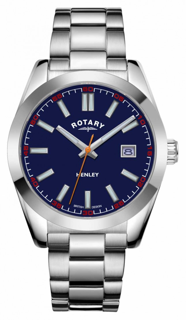 Rotary Mens | Henley | Blue Dial | Stainless Steel Bracelet GB05180/05