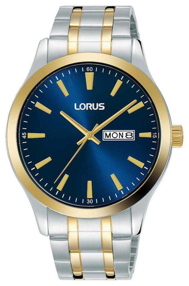 Lorus Mens | Blue Dial | Two Tone Stainless Steel Bracelet RH342AX9