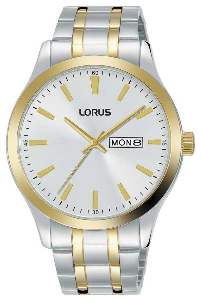 Lorus Mens | Silver Dial | Two Tone Steel Bracelet RH346AX9