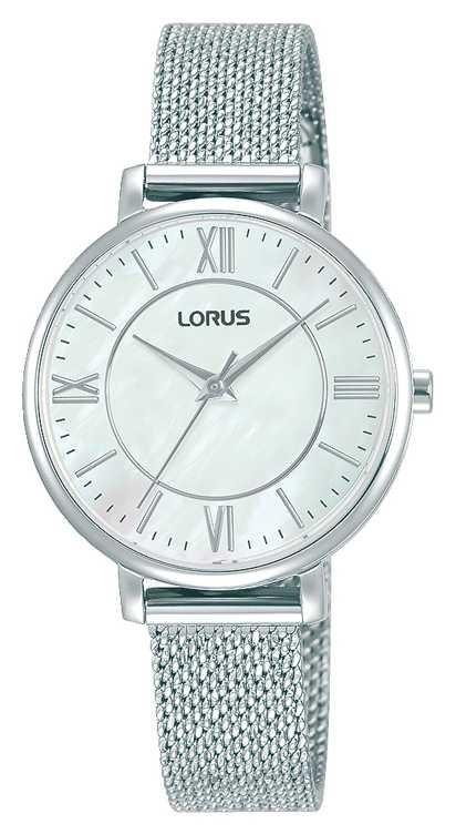 Lorus Womens | White Dial | Stainless Steel Mesh Bracelet RG221TX9