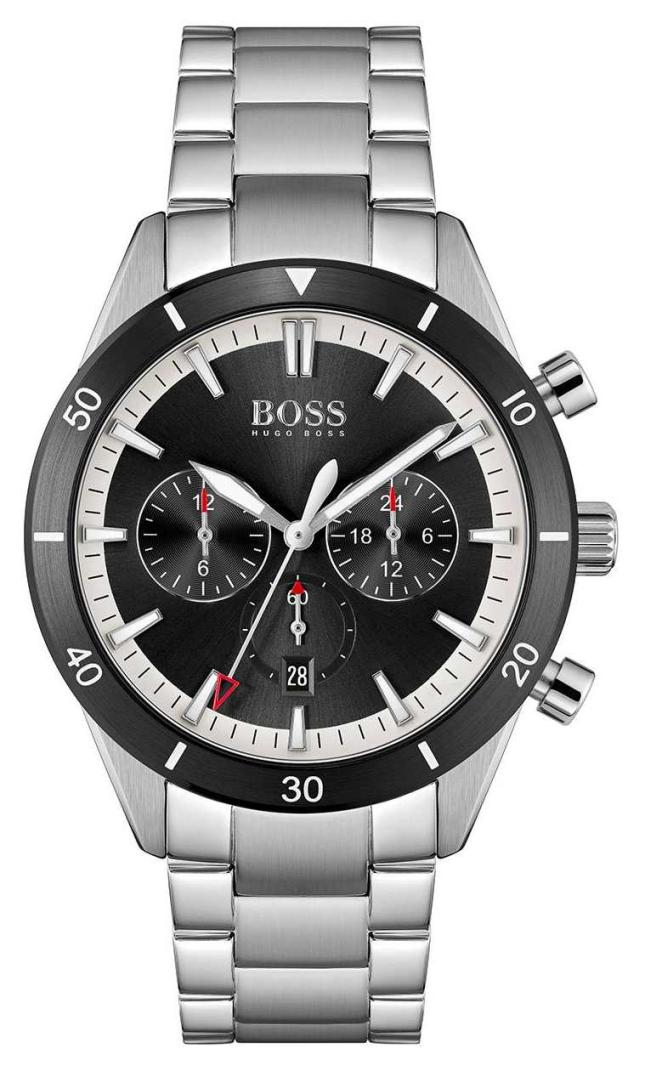 BOSS | Men's | Santiago | Black Dial | Stainless Steel Bracelet | 1513862