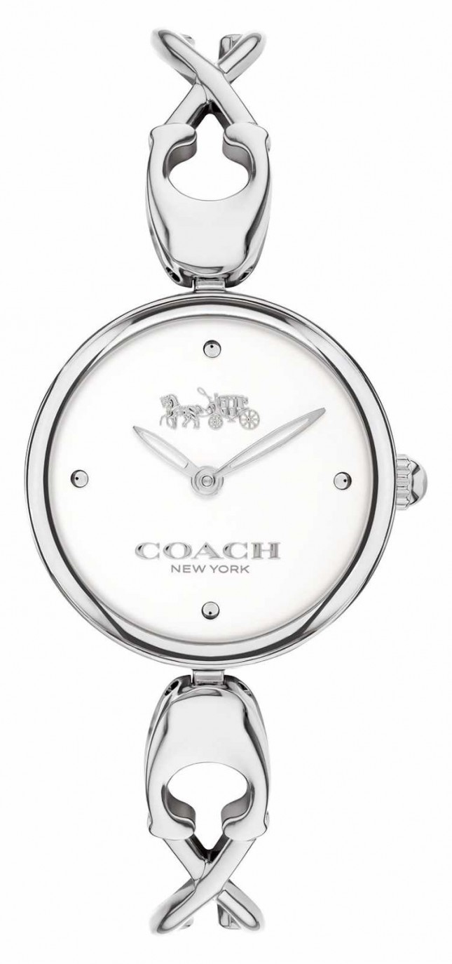 Coach Caroll | Women's Stainless Steel Bangle Bracelet | White Dial 14503750