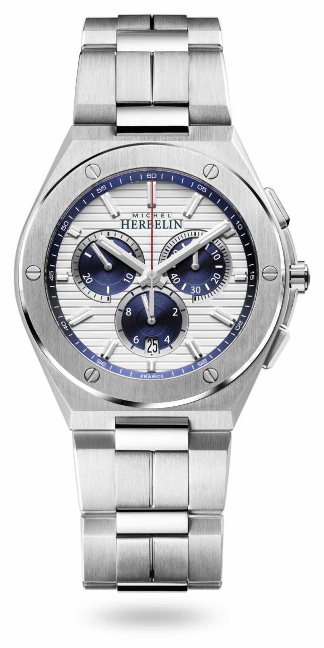 Michel Herbelin Cap Camarat | Chronograph | Stainless Steel Bracelet | 37645/B42